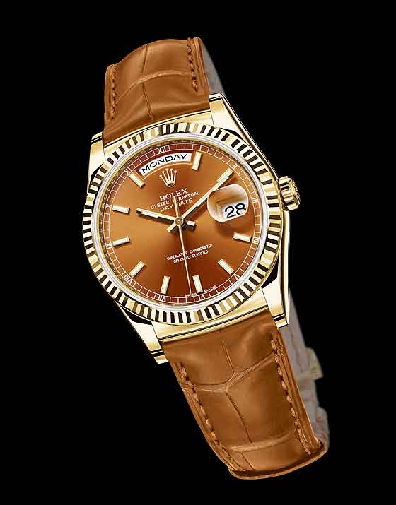 Rolex_Day-Date_Yellow_gold-Replica Watches