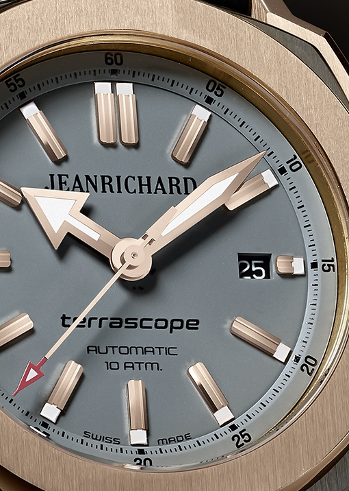 JeanRichard Terrascope Steel and Rose Gold (gray dial)