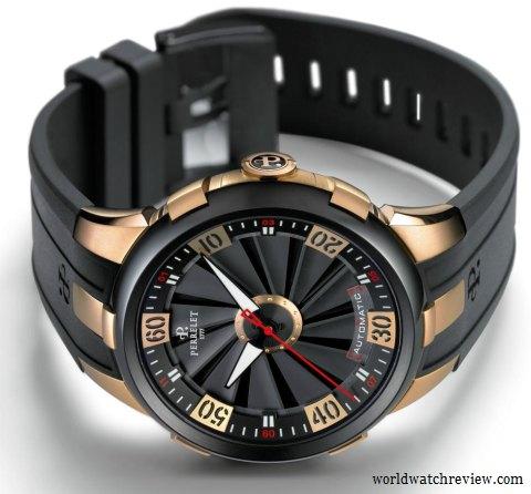 Perrelet Turbine XL Ref. A3027/1 Limited Edition automatic watch in rose gold and DLC steel