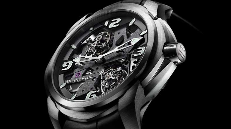 The Cool, Masculine Blancpain L-evolution Tourbillon Carrousel Skeleton Watch 92322-34B39-55B