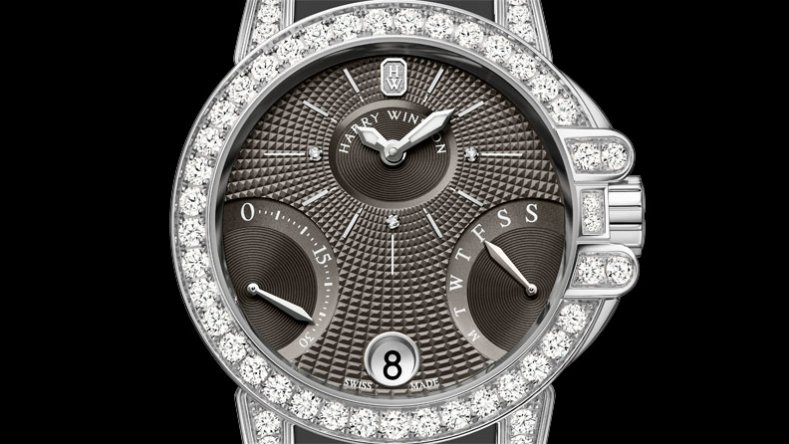 Harry Winston Ocean Biretrograde Steel Case Grey Dial Replica Watch