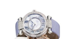 New Perfect Rose Gold and Stainless Steel Chopard Imperiale Replica Watch with Diamonds Bezel