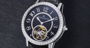 Jaeger-LeCoultre Rendez-vous Tourbillon Black Enamelled Dial Replica Watch Ref.34134E4