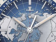 SIHH 2016 Steel Fake Jaeger-LeCoultre Geophysic Universal Time Map Dial Self-winding Watch