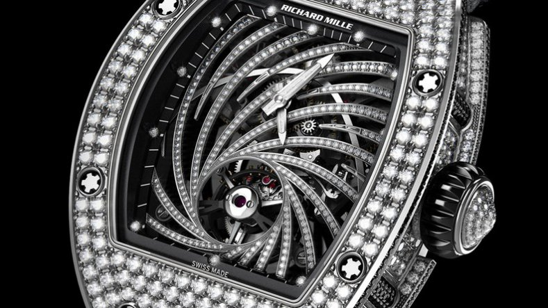 The Elegant Ladies' Diamonds Richard Mille RM51-02 Tourbillon Replica Watch