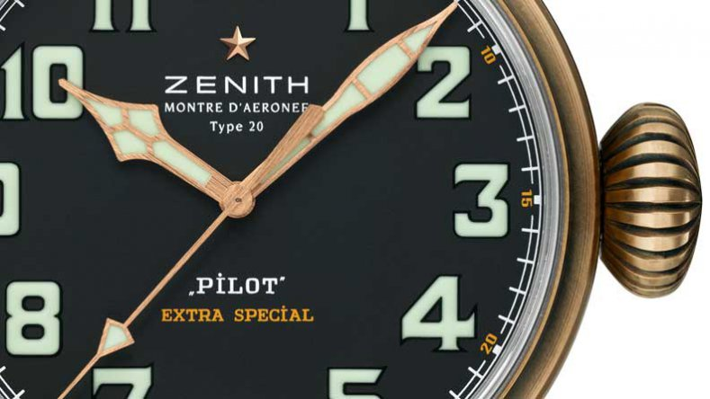 Bronze Case Zenith Pilot Type 20 Extra Special Black Dial Replica Watch 29.2430.679/21.C753
