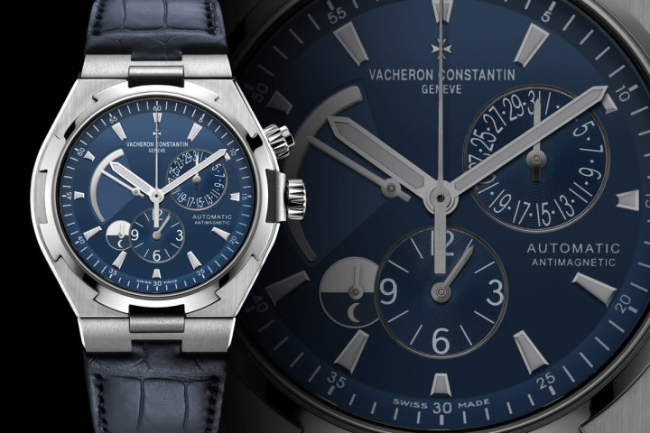 Vacheron Constantin Overseas Dual Time blue dial watch