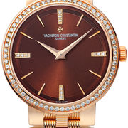 Rose Gold Ladies' Vacheron Constantin Patrimony Brown replica