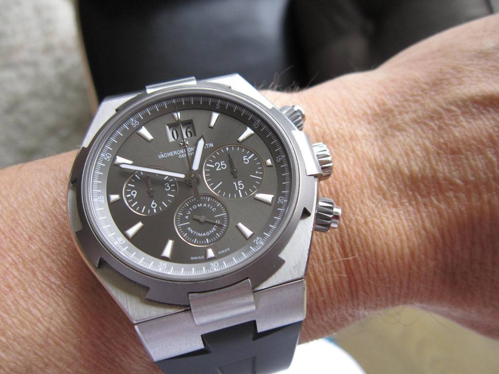 Titanium Vacheron Constantine Overseas replica watch