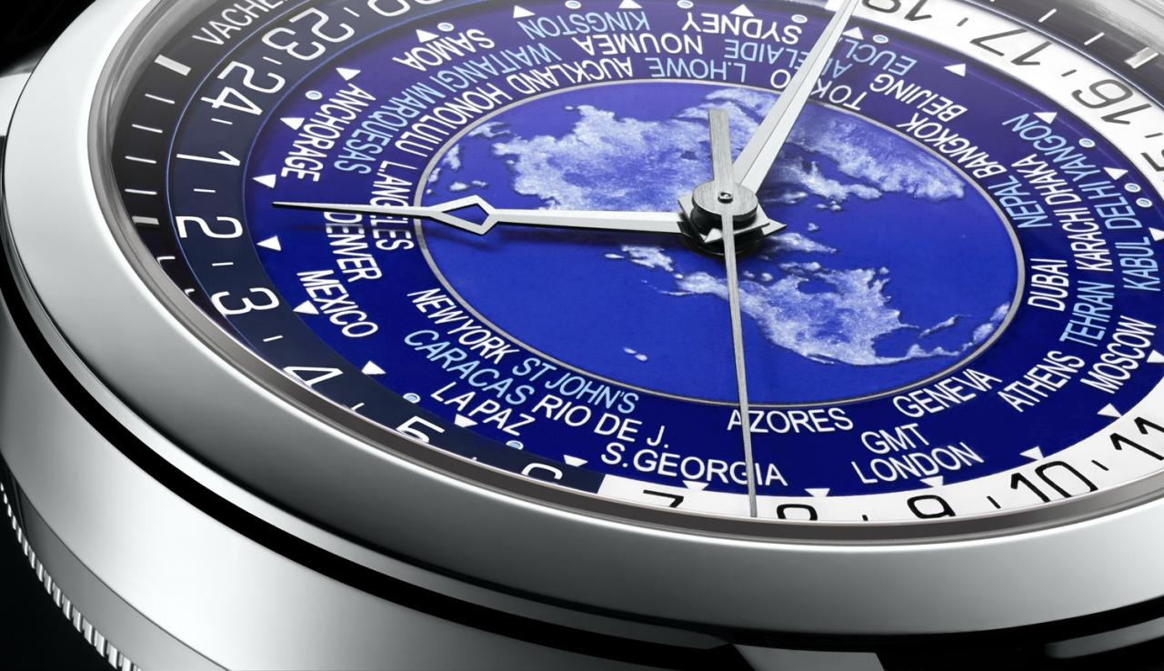blue Vacheron Constantin Traditionnelle world time replica