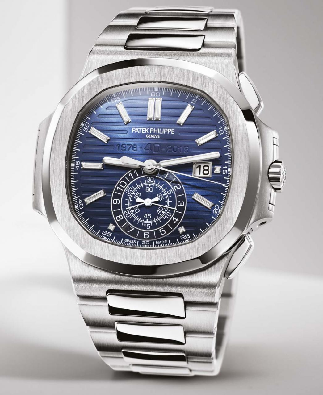 Patek Philippe Nautilus 40th Anniversary 5976/1G Watch Is 49.25mm Wide In 18k White Gold Watch Releases