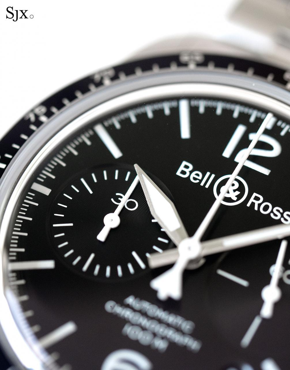 Bell Ross BR V2-94 Black Steel chronograph 5