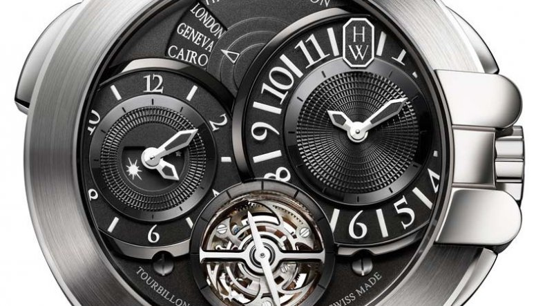 The Luxurious and Useful Fake Harry Winston Ocean Tourbillon GMT Watch Ref.OCEATG45WW004