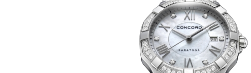 Up Close With The White Gold Diamonds Concord Saratoga Lady Watch