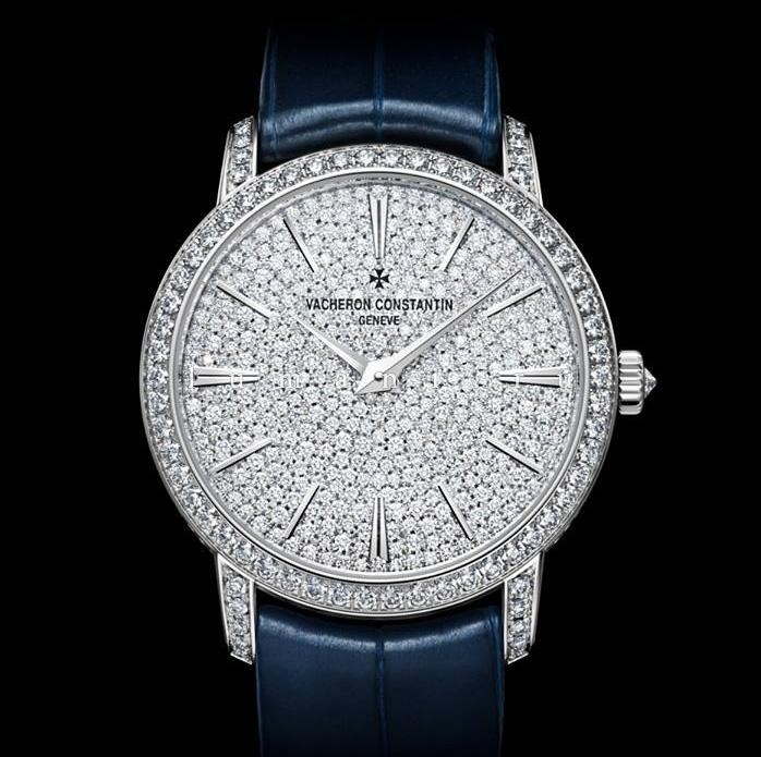 Vacheron Constantin Traditionnelle diamonds replica watches